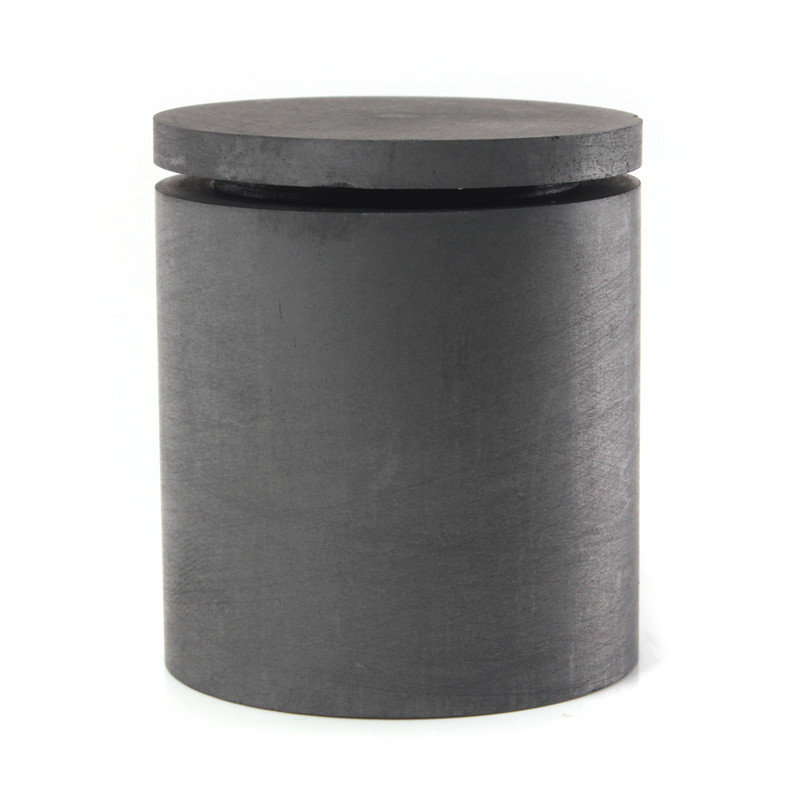 40 x 40mm High Purity Graphite Melting Crucible Casting With Lid Cover For Silver Weight 58g High temperature Resistance