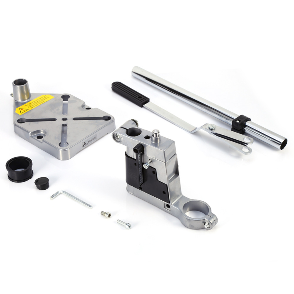 Electric Drill Bench Press Stand Tool Rack Repair Workbench Pillar Pedestal Clamp for Drilling Collet Rotary Tool