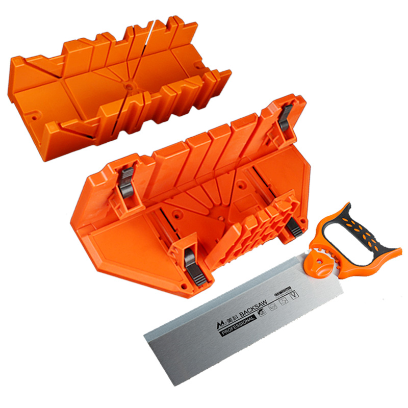 Mitre box with back saw 0/45/90 degree pruning saw wood cutting hand saw hardware tools