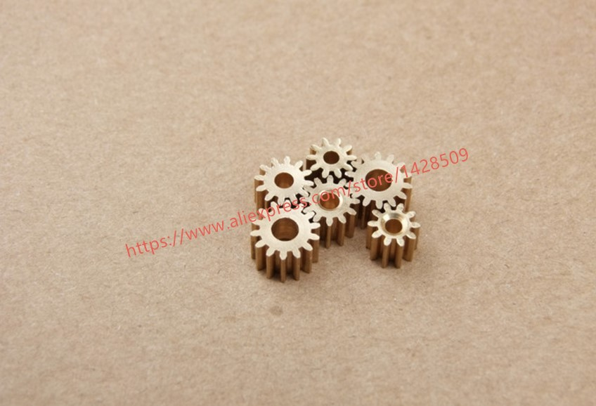 10 pcs 2.3mm modulus gear 12 tooth brass reduction gears for principal axis gear DIY Micro Motor diy Gear Box Mating Parts