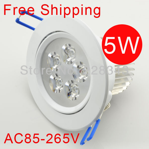 10pcs/lot Freeshipping 5w Ceiling downlight Epistar LED ceiling lamp Recessed Spot light 85V-245V for home illumination