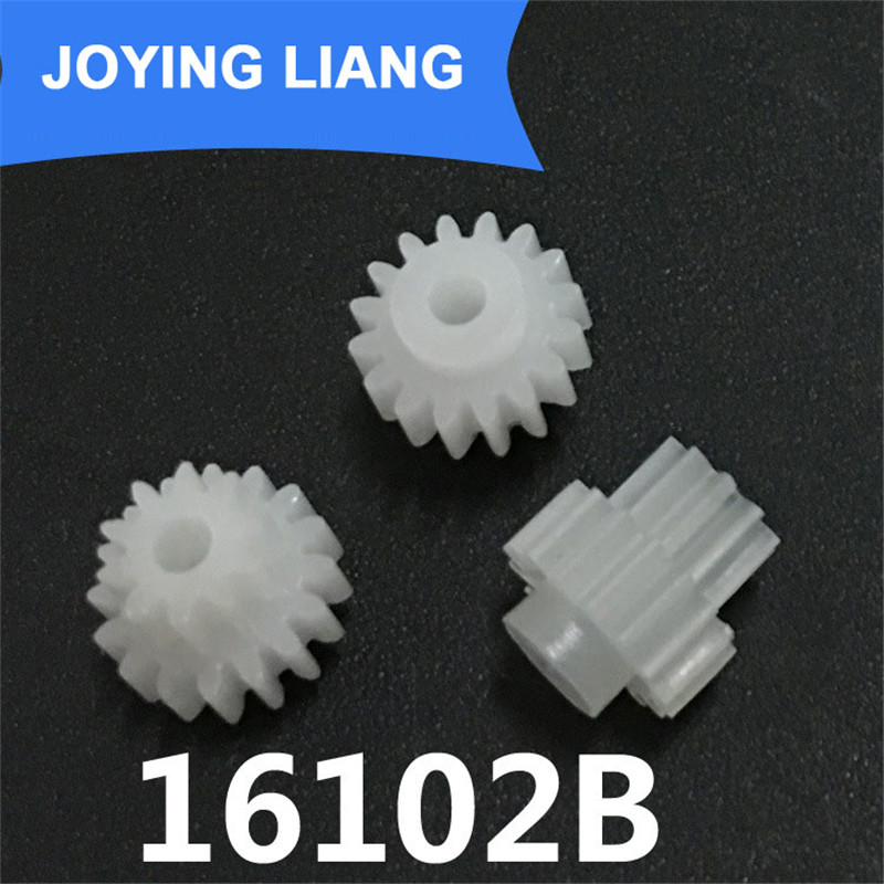 The 16102B Gear Module 0.5 Plastic Gear Double Cone 16 Tooth/ 10 Tooth Loose 2mm Shaft Hole Gear Wheel (5000pcs/lot)