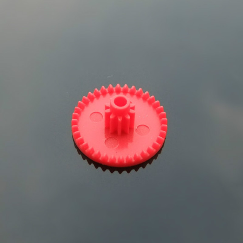 Red Crown Gear C36102B Front Red Modulus  0.4M Plastic Gear DIY Technology Model Pinions