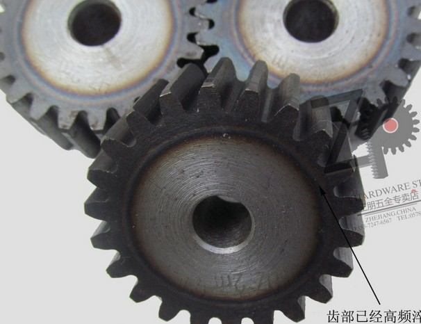 1.5mod  gear rack 60-64 tooth spur gear precision machinery industry 45 steel gear rack and pinion frequency hardening spur gear
