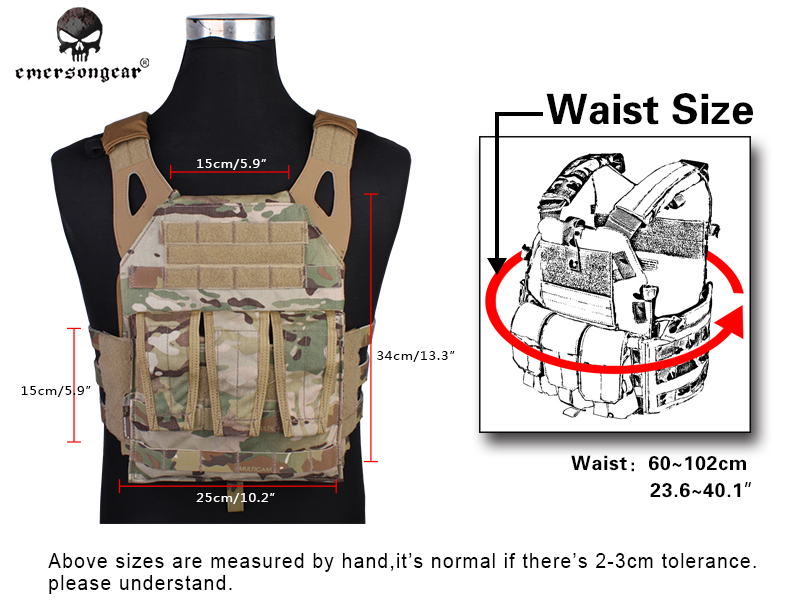 EmersonGear Jumper Plate Carrier Airsoft Tactical Combat JPC Vest EM7344