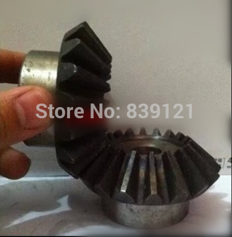 2 moudle Metal bevel gear tooth surface quenching of 90 degrees one pair 2pieces 1:1 transmission 2M40