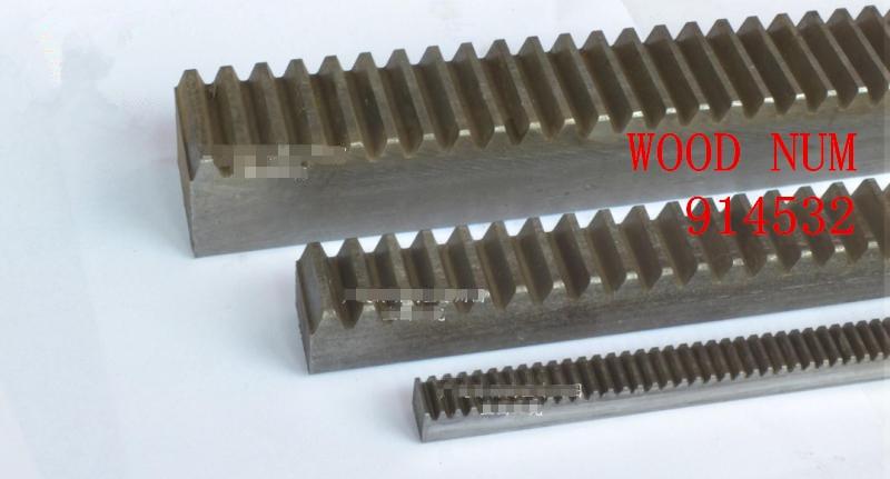2Pcs 1.0Mod 15*15*1000mm Gear Rack 1.0 Module 45# Steel Heavy Duty Gear Rack