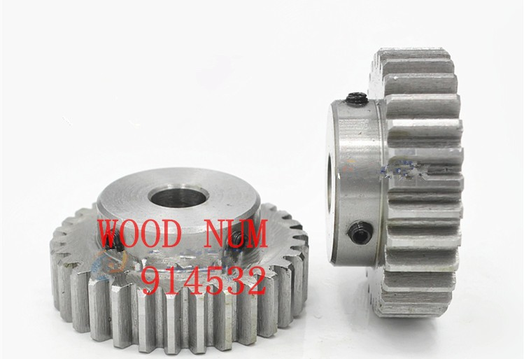 1 Mod Spur Gear 15T 20T 25T 30T D-hole 15mm Metal Pinion Motor Gear 45# Steel