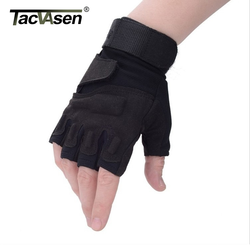 TACVASEN Army Gloves Military Tactical Gloves Half Finger CombatGloves Slip Resistant Hunt Gloves Climb Workout Gear TD-YWHX-002