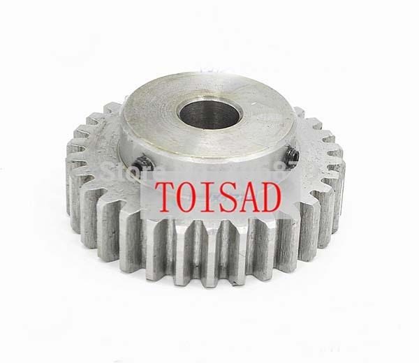 Motor Bevel Gear 1.0 Mod 30T 90° Pairing Bore 6//8//10//12mm Metal Bevel Gear