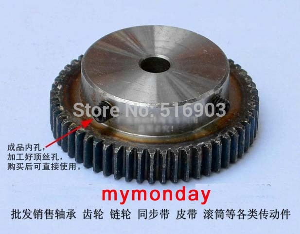 Gear pinion 40T Mod 1 M=1 Width 10mm Right Teeth 45# steel positive gear rack low noise smooth runing for cna machine