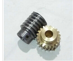 42L-E501 1.5M 20Teeth Copper Worm Gear Hole 8mm Carbon Steel Rod Hole 8mm Reduce  Transmission Parts