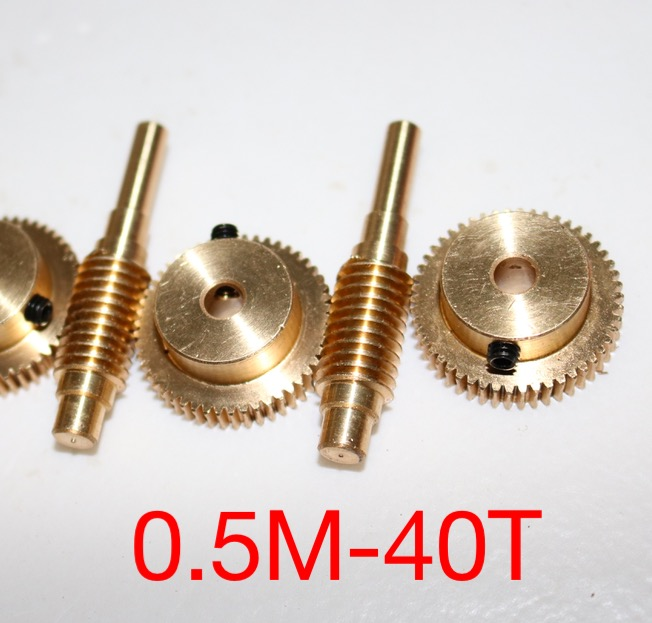 0.5M-40T  1:40  Diy Model Motor worm rod and worm gear -Outer Diameter:26.5mm Hole:5mm