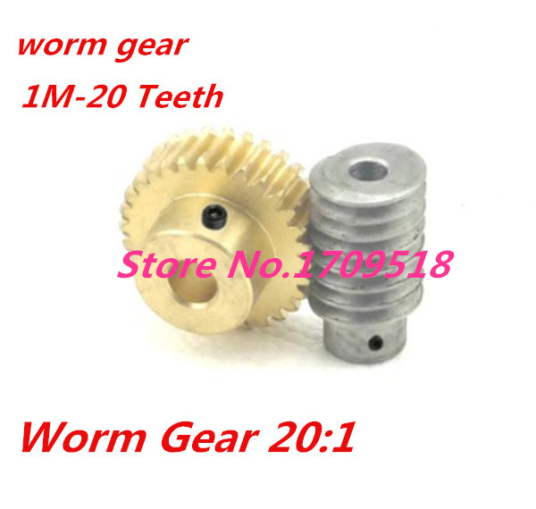 +copper worm rod Outer d:34.5mm  hole:5mm D:10mm 0.8M-20T Plastic Worm gear