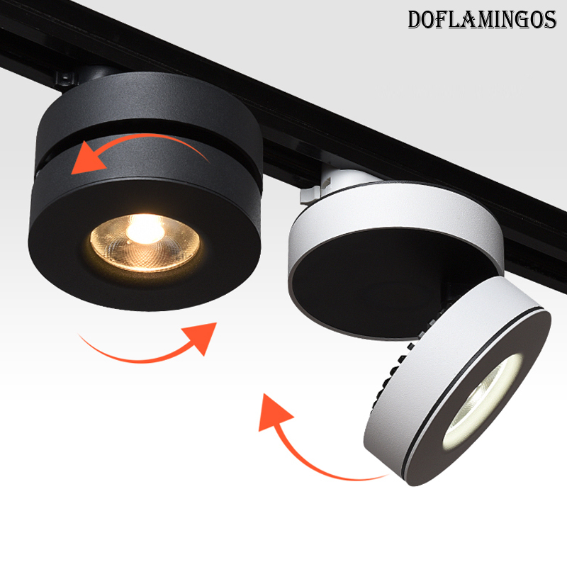 NEW 355 Degree rotation AC85-265V 5W/10W/15W GEEE LED Ultra thin high quality Track Spotlight Tracking Rail Lighting