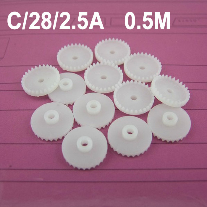 Hot sale (100pcs/lot) HAGO model right angle gear wheels 0.5M C282.5A crown gear accessories  (accept retail)