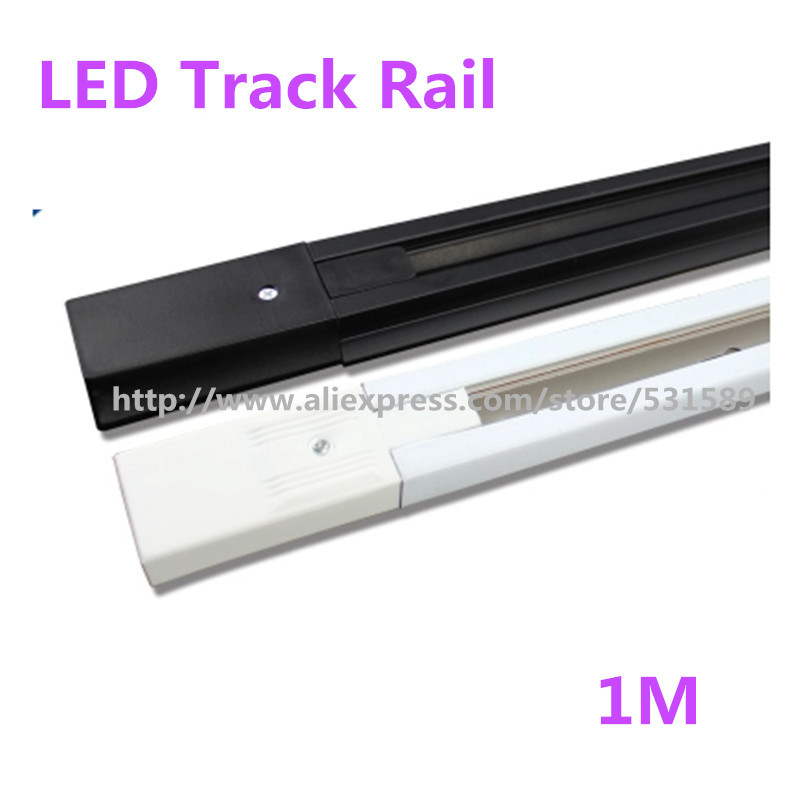 10PCS/LOT 1m LED track light rail track lighting fixture rail for track lighting Universal rails,track lamp rail,free shipping