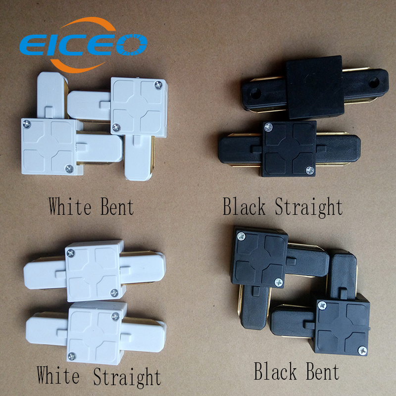 (EICEO) New Hot Sale Led Track Light Connector Straight Or Corner Just Connector Haven't Rail  White/Black just one piece