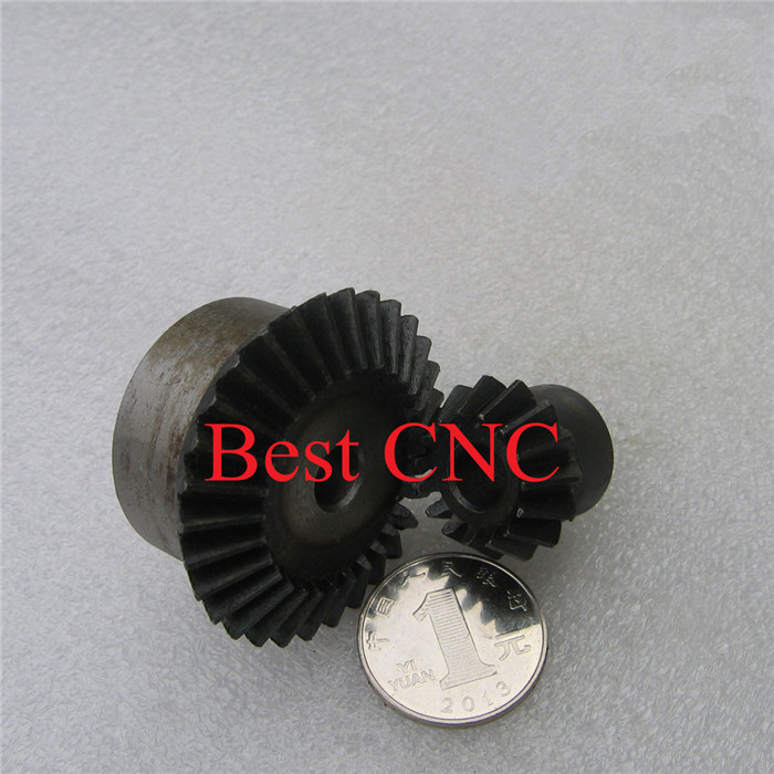 2PCS 2M 15T 30T Bevel Gear 15 teeth 30 teeth 2 Mod Ratio 1:2 Steel Right Angle Transmission parts machine DIY