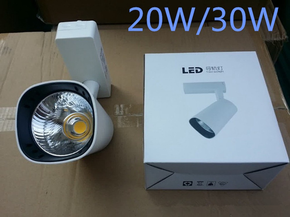 12W 20W 30W LED Track Light AC85-265V Spotlights Kitchen Modern Ceiling Track Lamp Clothing Shop Shoes Store COB Rail Lamps