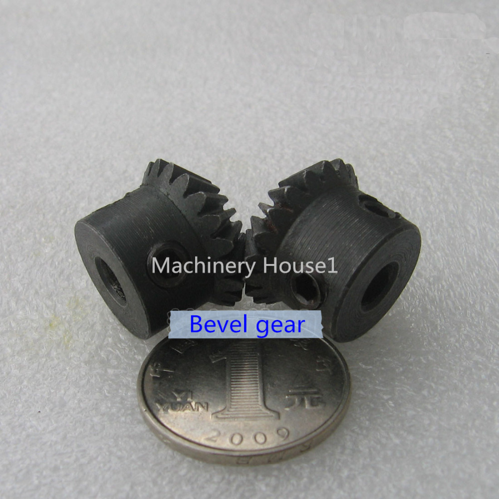 2pcs 1.5 Module 12T 8mm Hole Diameter 45# Steel Bevel Gear 1:1 Ratio