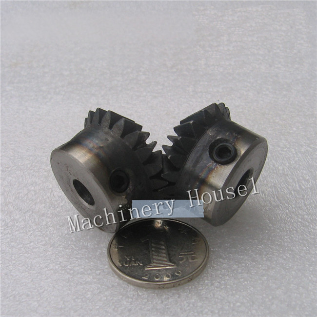 Bevel Gear a pair 20T 1.5 Mod M Modulus ratio 1:1 Bore 8mm 45# Steel Right Angle Transmission parts tank model RC car model DIY