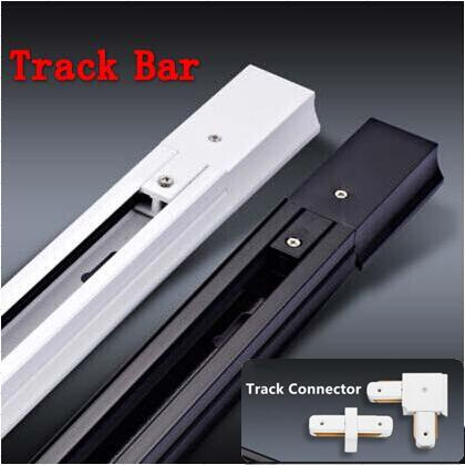 LED track light 10W 20W LED track lamp ceiling spot light track bar length 1 m (white and black optional)
