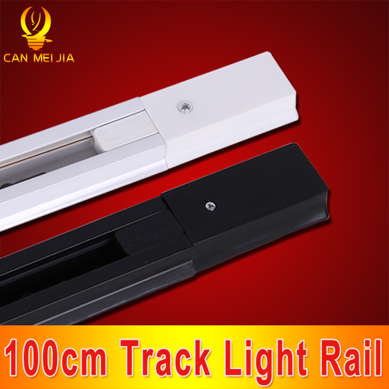 CANMEIJIA 20pcs/lot 1 meter LED Rail Track Aluminium Led Tracking Light Rail 100cm White/Black Available