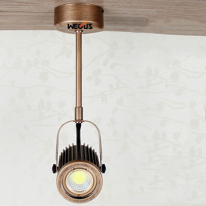 New products, long arm surface mount track lights, European retro LED spotlights, black / bronze (yellow) optional
