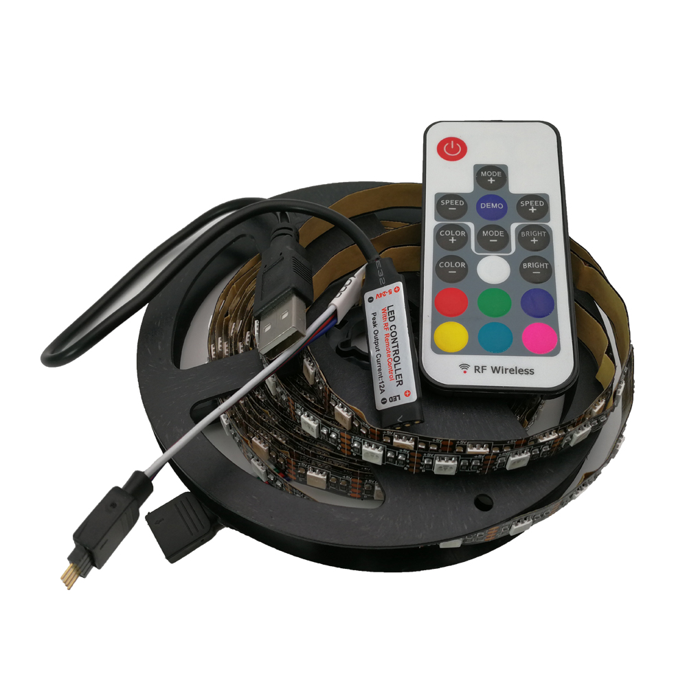 5V USB LED RGB Strip SMD 5050 RGB TV Background Lighting IP20 IP65 60LED/m 3 key 17Key RGB Controller 1m / 2m / 2.5m / 3m Length