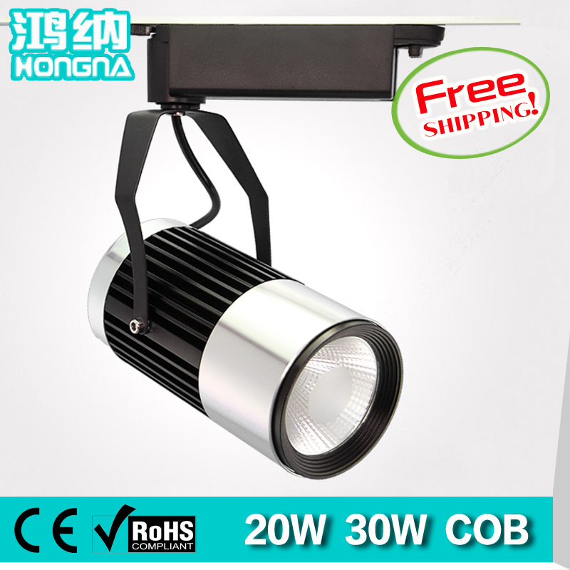 Free Shipping High Power 20W 30W LED Track Lights Shopping Mall Store Exhibition Room LED Track Lighting With 2-Wire Connector
