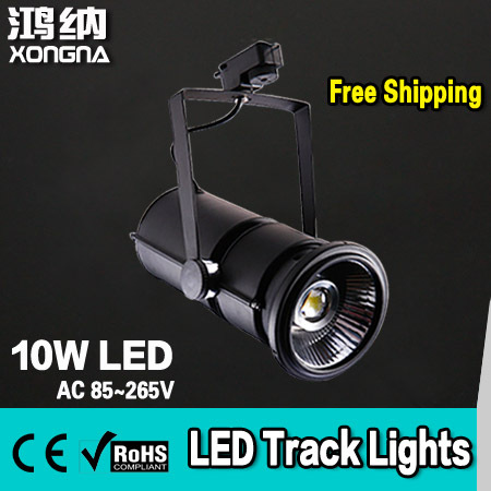 High Quality 10W Commercial LED Track Light, 100~110lm/W, Warm White/Cold White, 2-Wire Connector