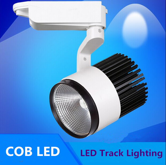 20pcs/lot Free shipping10w LED Track Spotlight 85~100LM/W Track light AC85~265V,Integrated chips 2 PIN
