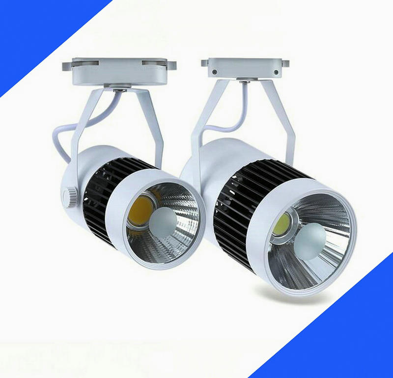 wholesale 2line 30W COB LED track spotlight clothing store track spot lighting high bright AC85V~265V CE ROHS shop lamp