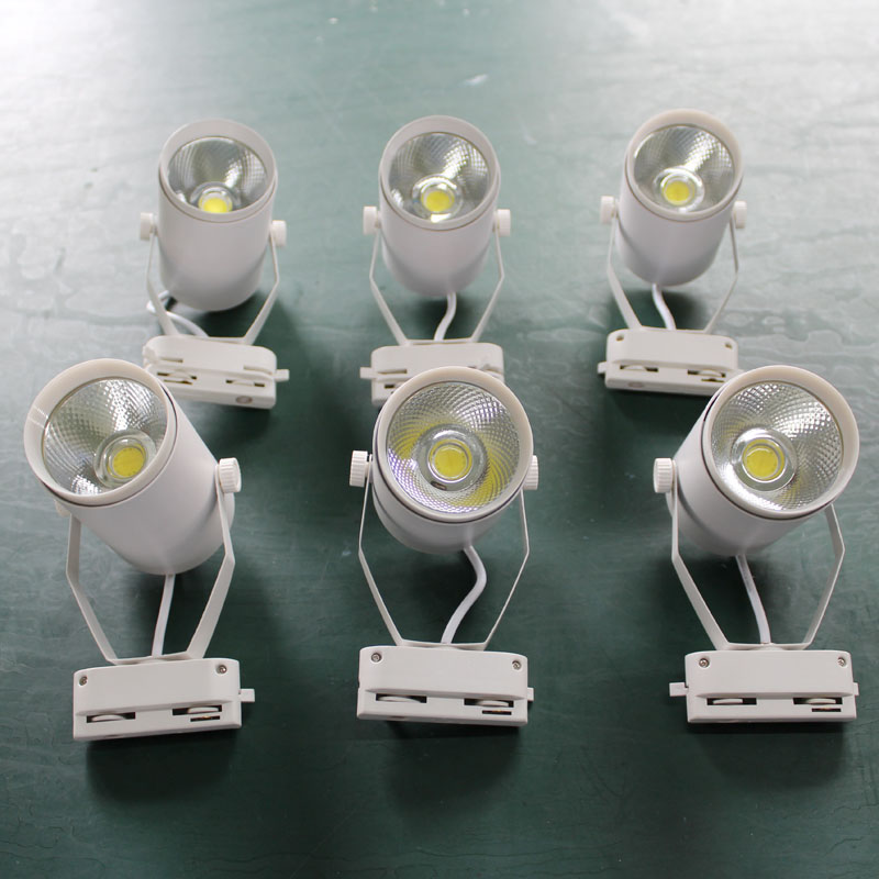 1pcs COB 15W 20W 35W 40W 1000lm-4000lm AC85-265V Led Track light Track aluminum Ceiling Rail Track lighting Spot Rail