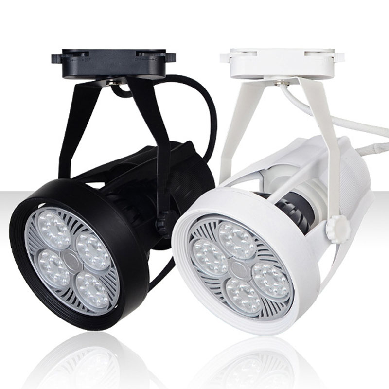 Noverty 40W led track lighting AC85-265V aluminum white and black shell rail ceiling light spotlight best price