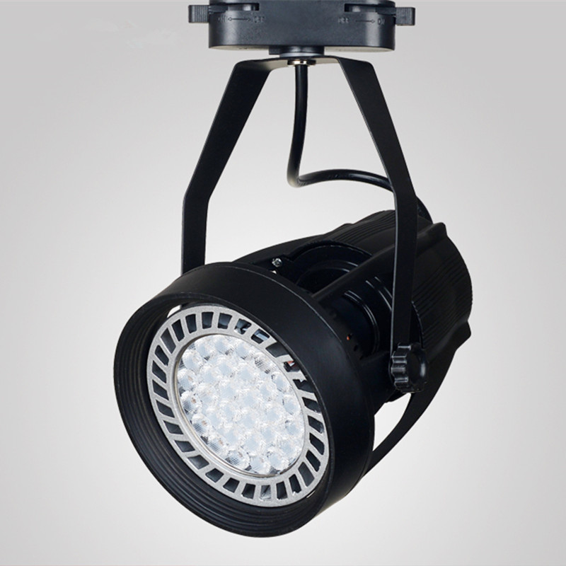Led track lights par30 track spotlights   led spotlights lights  clothing store background mounted rail lights 35W