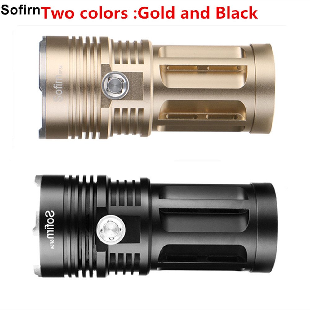 Sofirn SF34 Powerful LED Flashlight 3000LM Cree LED Torch Light 18650 Tactical Flashlight 5 Modes Linterna Portable Lamp Light