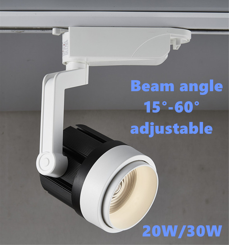 LED Adjustable Fixed Track Light High Power led track lamp AC85-265V COB 20w/30w spot light for Shops cabinets home decoration