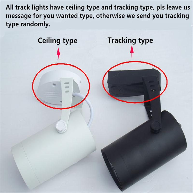 Track Lamp 7W Track Light Spotlights LED Track Lighting Tracks For Store Shopping Mall Lighting Lamps  Showcase LED Spot light