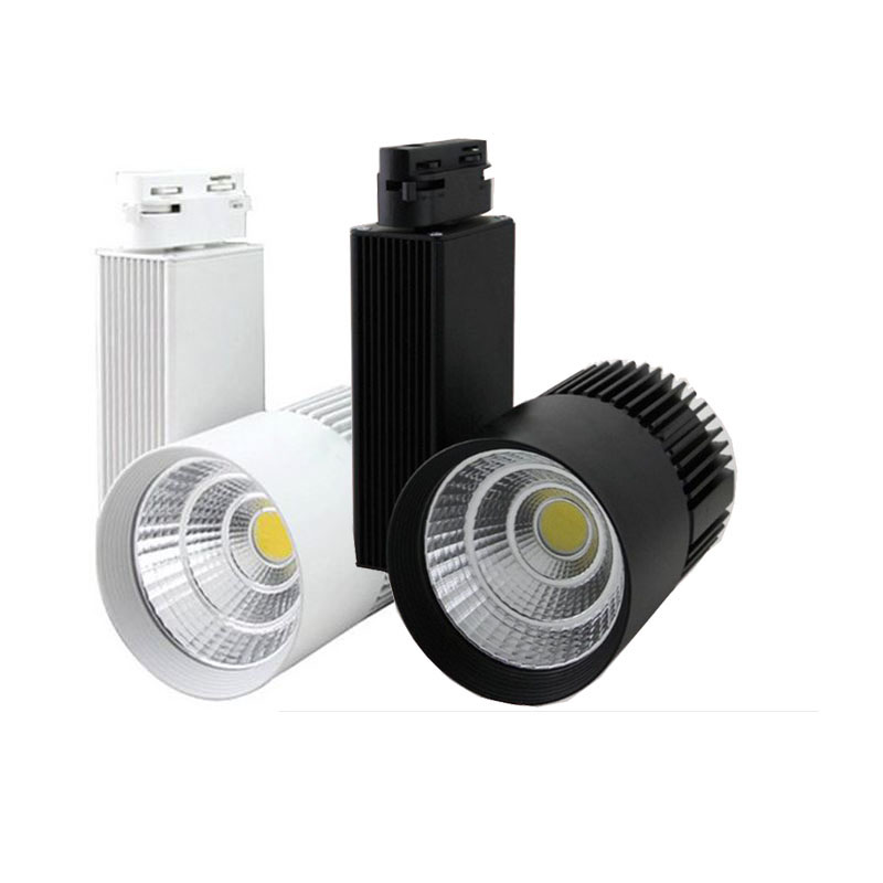 10X New design 30W 30degree COB LED track light with bridgelux chip AC 85-265V input express free shipping