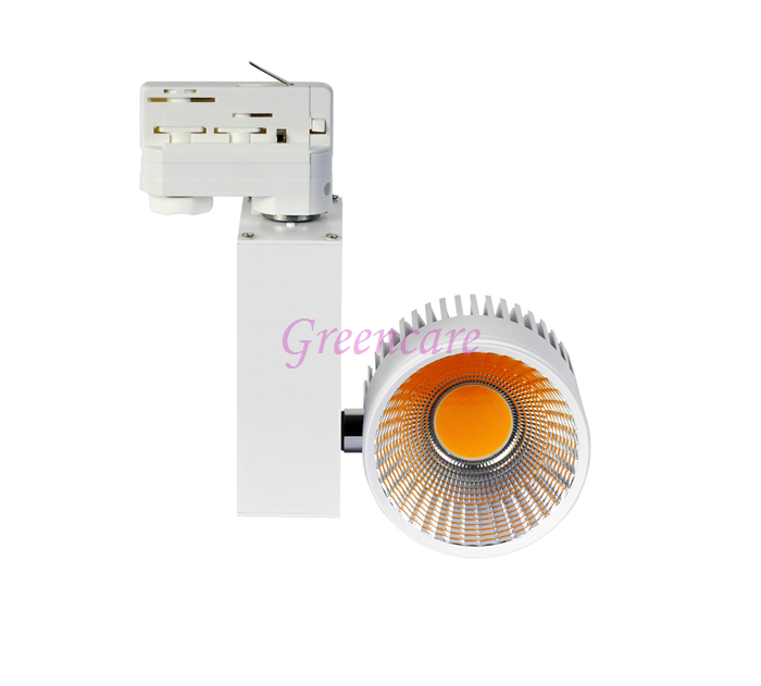 Non Dimmable 10pcs/lot 10W COB LED Track Light Taiwan Epistar chip spot light 85-265 Volt LED Wall Track Lighting 2/3/4 wire