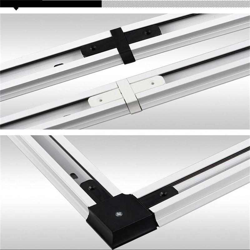 2 Pieces 0.5 Meter Track Rail With 1 Piece Connector 1 Meter Aluminum Rails Accessories Track Light Integration 2 Wires Rails 1M