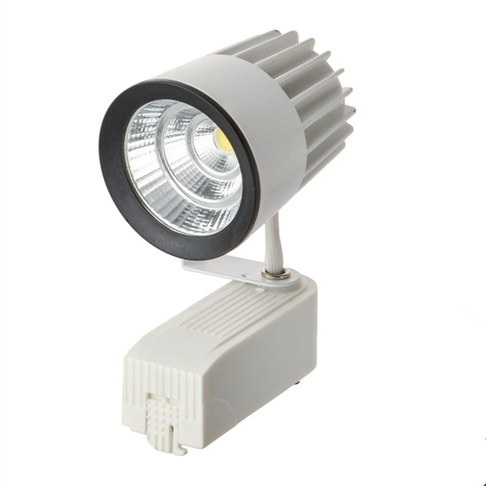 LED COB Track Rail Light 15W AC85- 265V Spotlight Adjustable Rail Track Lighting lamp for Mall Exhibition Office black/white