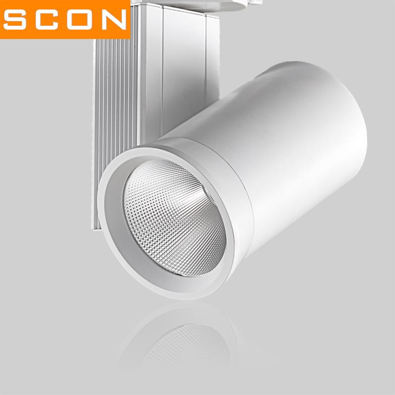 SCON AC220V LED Track lamp 24W/40W Spotlight modern style natural light Clothing store commercial concourse  indoor lighting