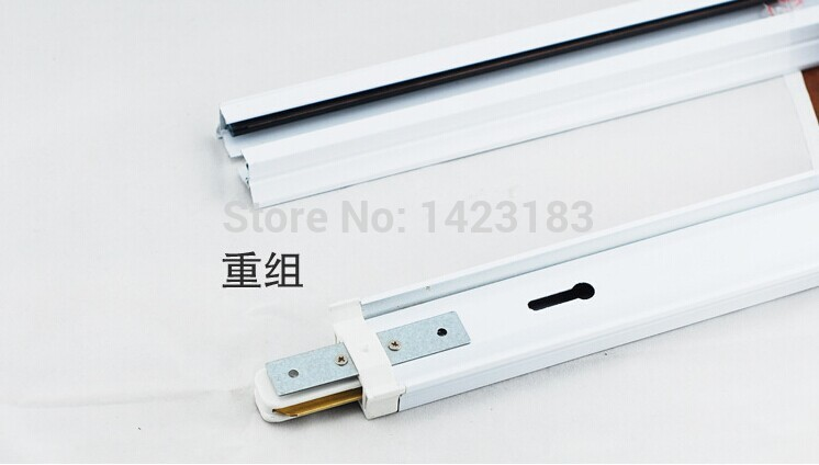 Body Color  White  Led track light lamp track 1 meters 2 phase white and black free shipping 30W
