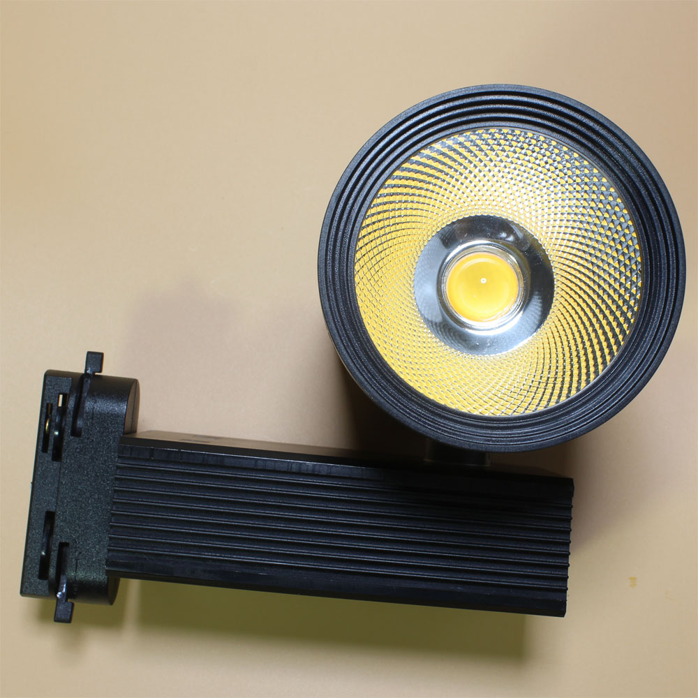 Free Shipping LED track light 30w spot light for shopping mall cloth shop AC85-265V COB Taiwan Chip high quality 10pcs per lot