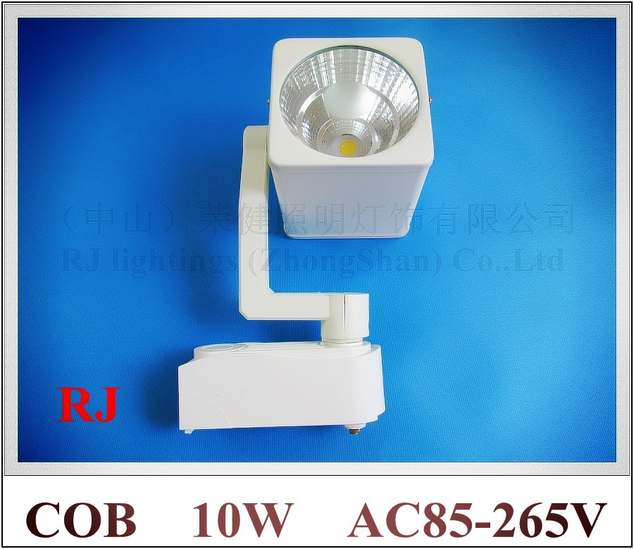 Epistar chip COB LED rail spot light tracking LED light track lights 10W COB 1led 1*10W AC85-265V aluminum CE ROHS FCC