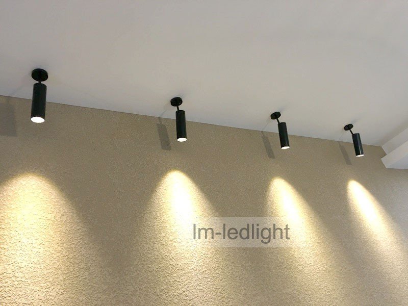 led ceiling light spot 5W 7W COB wall spot led Bridgelux warm / netural / cold white adjustable spotlight free ship 30pcs
