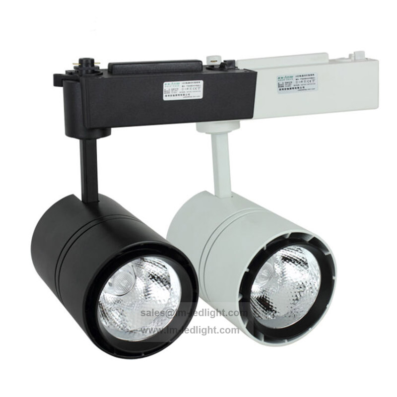 Dimmable LED track light 30W COB rail light spotlight warm/day/pure white luminaria free ship 10pcs/lot